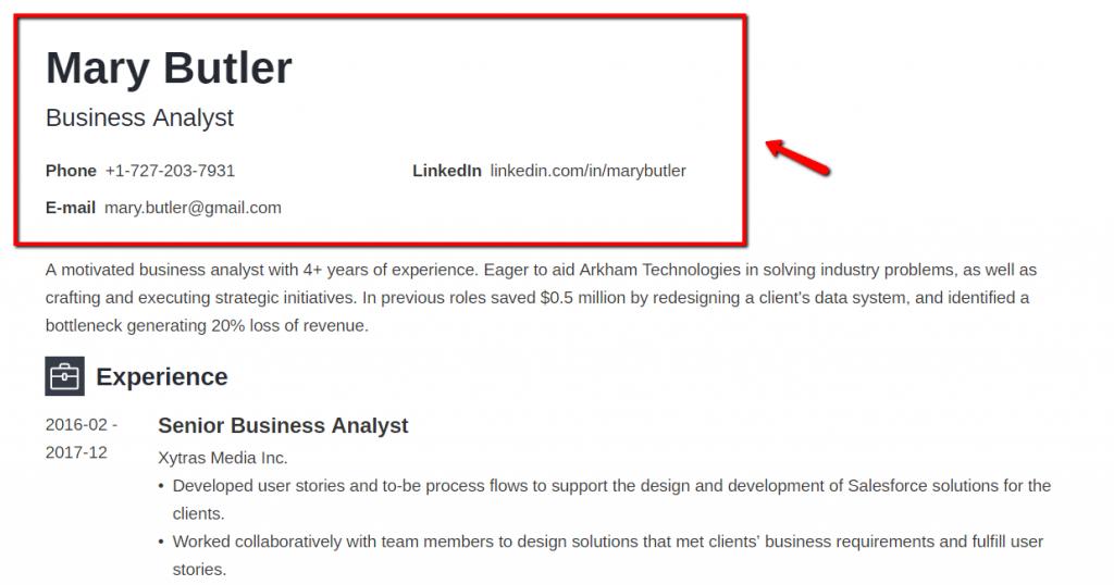 resume-format-in-canada-one-column-resume