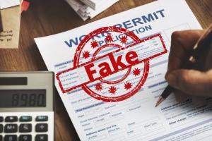 Fake work papers - Identifying fake work permits